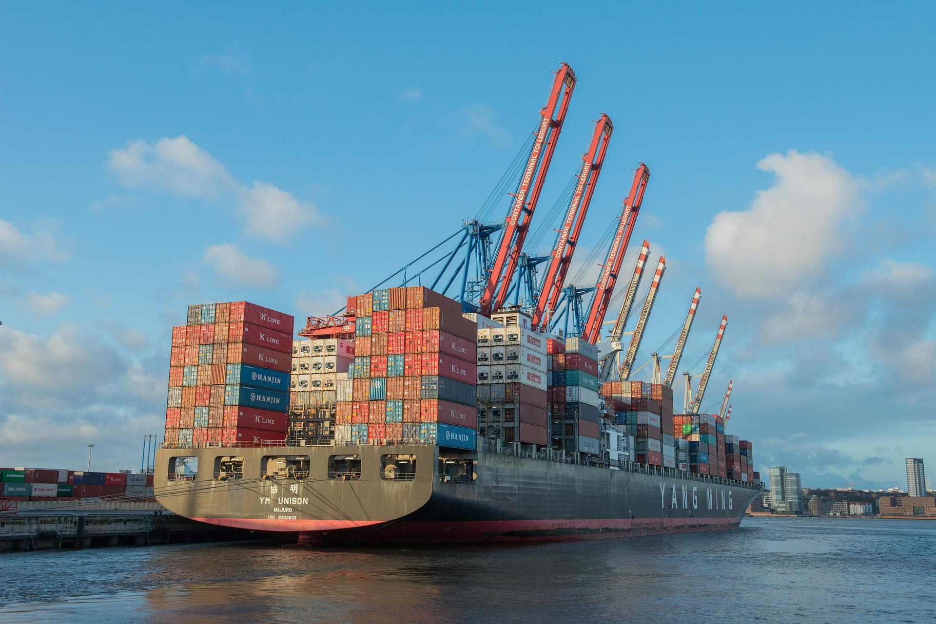 Hamburg Hafenrundfahrt Containerschiff