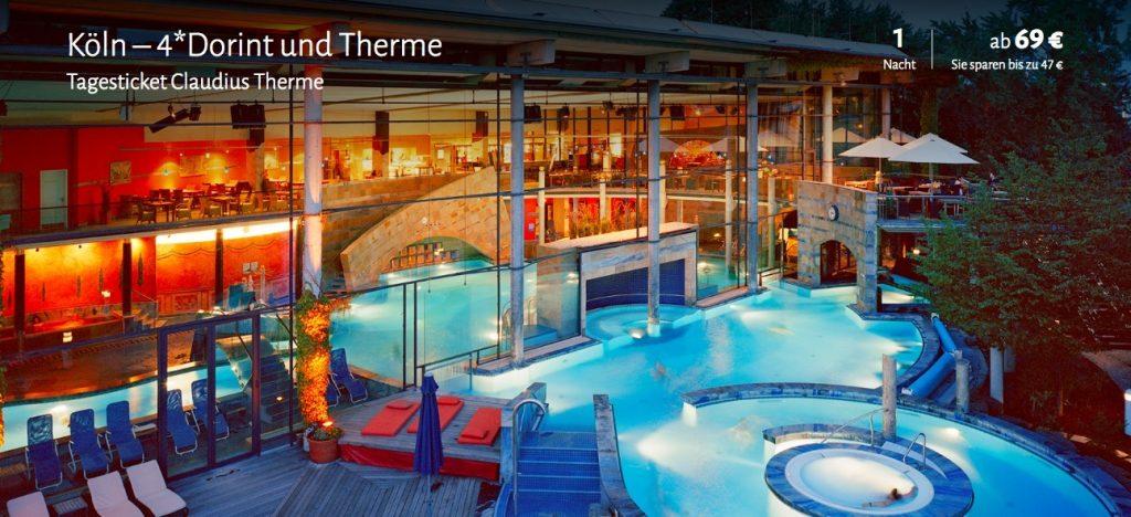 2 tage k ln im 4 5 hotel inkl fr hst ck und eintritt in die claudius therme ab 69. Black Bedroom Furniture Sets. Home Design Ideas