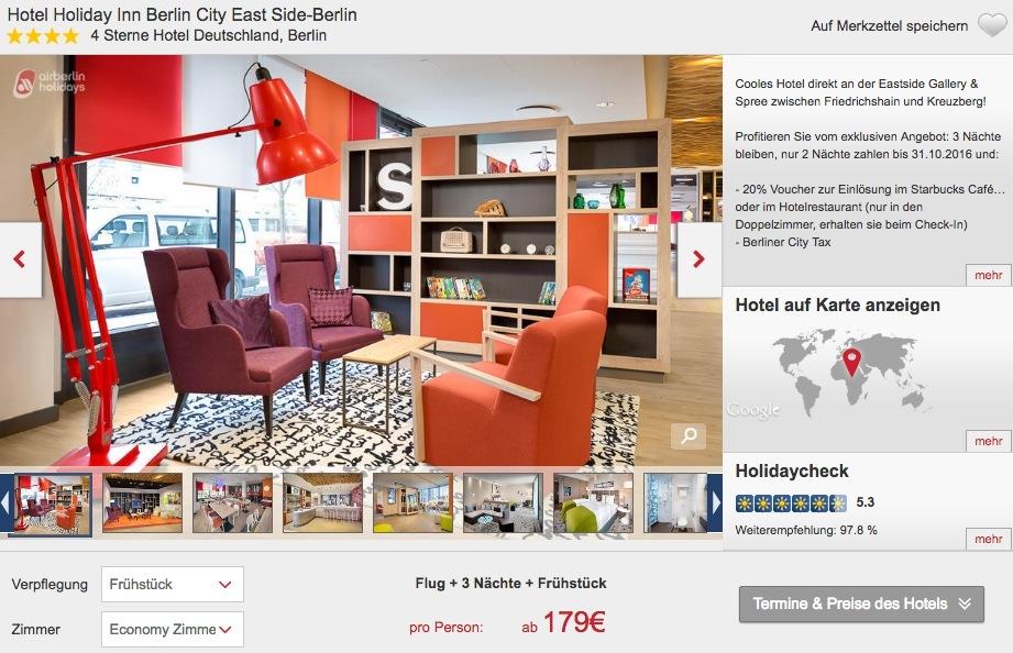 4 tage berlin zwischen friedrichshain und kreuzberg im 4 hotel inkl fr hst ck und flug ab 179. Black Bedroom Furniture Sets. Home Design Ideas
