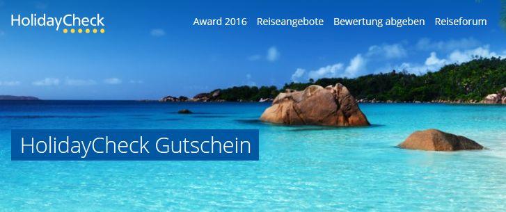 Holidaycheck Gutschein-Banner