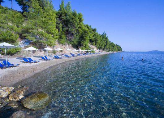 1 Woche Chalkidiki im April: 5* Hotel mit Halbpension, Flug, Rail&Fly und Transfer ab 313€