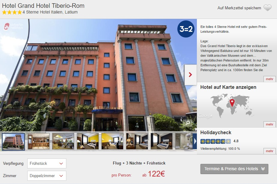 4 tage rom im 4 hotel mit flug und fr hst ck ab 122. Black Bedroom Furniture Sets. Home Design Ideas