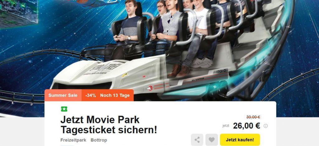 g nstige movie park tickets eintritt bereits f r 26 pro person. Black Bedroom Furniture Sets. Home Design Ideas