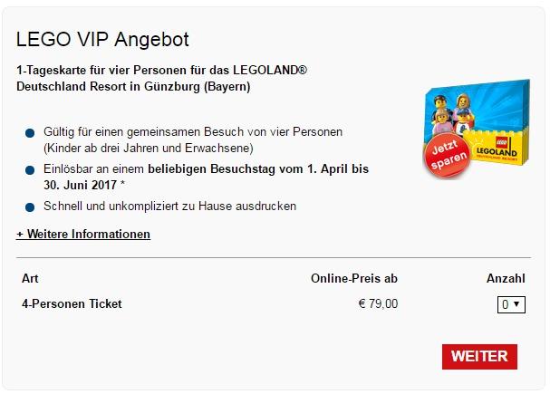 4 Personen Tageskarte Für Das Legoland Günzburg Für 79 Reisedealscom