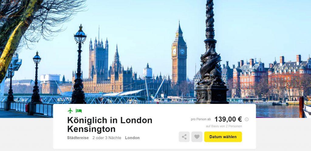 Städtetrip London 3 Tage Im 4hotel Mit Flug Und Frühstück Für 139