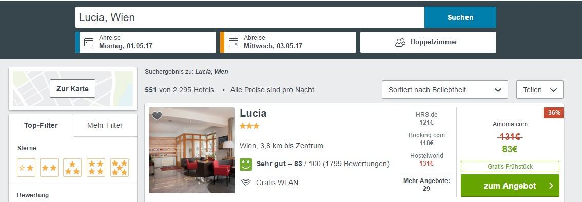 Wien Lucia Hotel