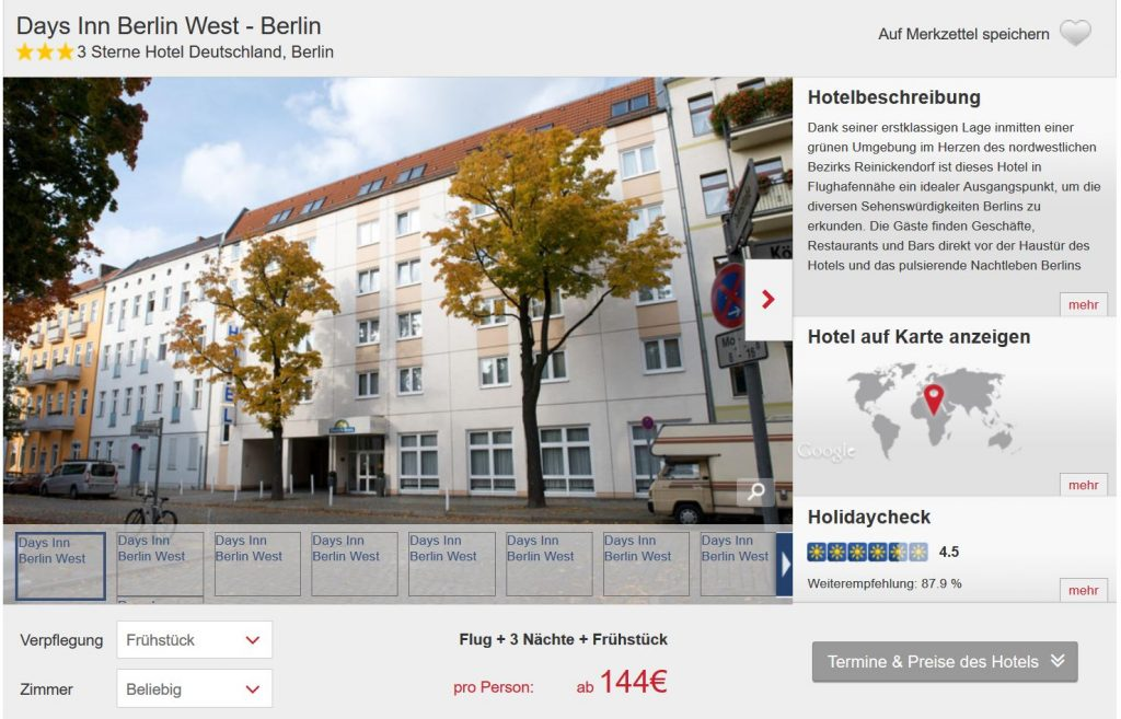 berlin 4 tage im 3 hotel inkl flug und fr hst ck ab 148 pro person. Black Bedroom Furniture Sets. Home Design Ideas