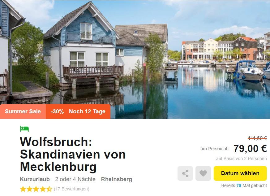 entspannungsurlaub 3 oder 5 tage im 4 hotel an der mecklenburgischen seenplatte inkl hp. Black Bedroom Furniture Sets. Home Design Ideas