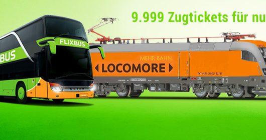 Locomore fährt wieder bei Flixbus: 9.999 Tickets für 9,90 € pro Fahrt