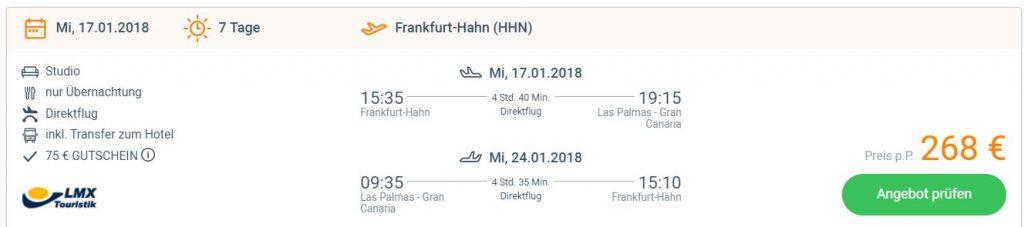 Gran Canaria 1 Woche Im Januar Im Top Hotel Inkl Flug Und
