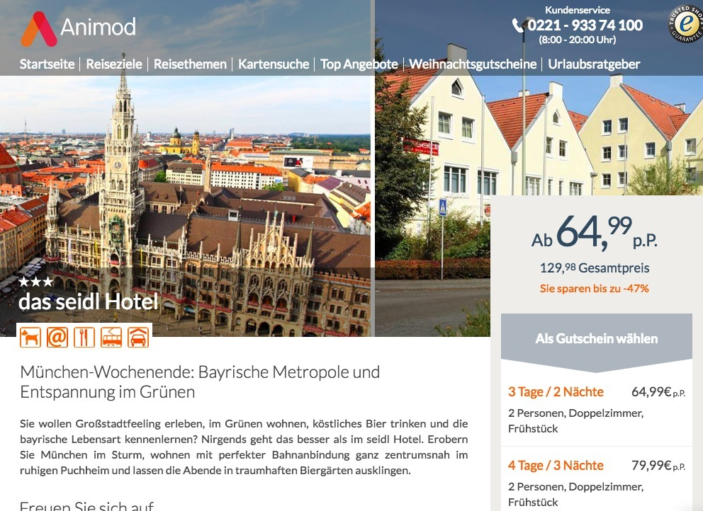 3 4 Tage Munchen Im 3 Hotel Inkl Fruhstuck Und Late Check Out Ab
