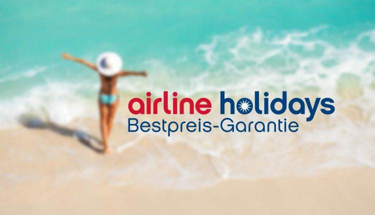 airline holidays Gutschein: 10 Prozent Rabatt auf alle Reisen (nur noch heute!)