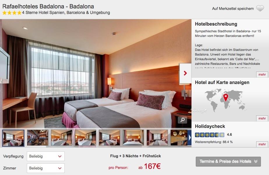 4 tage barcelona im 4 hotel mit fr hst ck und flug ab 167. Black Bedroom Furniture Sets. Home Design Ideas