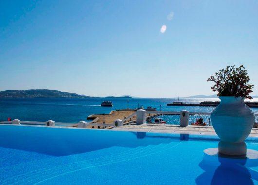 Eine Woche Mykonos im 3* Hotel inkl. HP, Flug, Rail&Fly u. Transfer ab 487€
