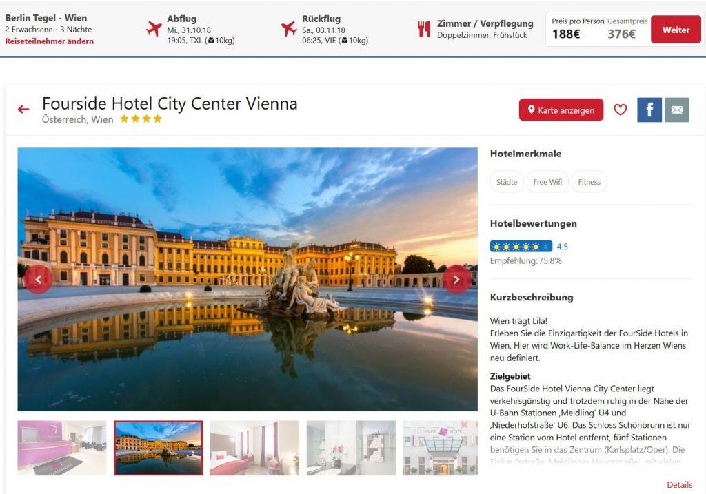 Wien 4 Tage Im 4 Hotel Inkl Flug Und Frühstück Ab 188 Pro Person