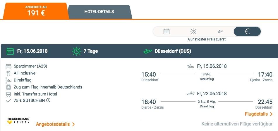 Flug Djerba Frankfurt