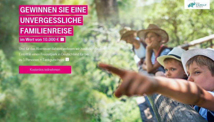 Telekom-Gewinnspiel: Familien-Erlebnisreise im Wert von 10.000 Euro gewinnen!