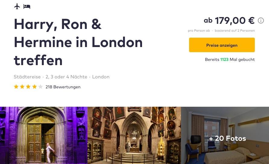 London Harry Potter Hotel Und Flug
