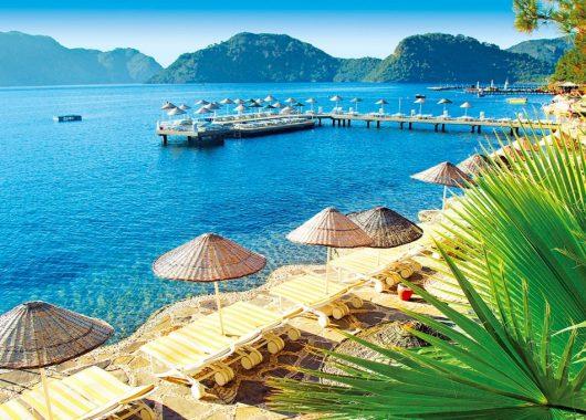 1 Woche im 5* Hotel an der Türkischen Ägäis mit All In, Flug, Rail&Fly u. Transfer ab 405€