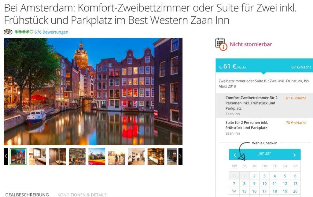 Amsterdam Ubernachtung Im 3 Hotel Inkl Fruhstuck Parkplatz Ab